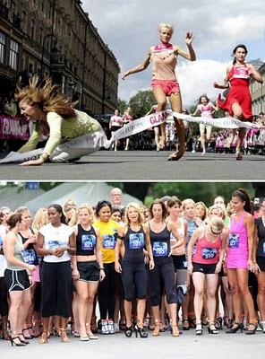 Lomba Lari High Heels Terbanyak Seluruh Dunia